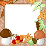 Autumn card Stock Photography