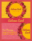 Autumn card, business card, invitation, flyer Stock Photography