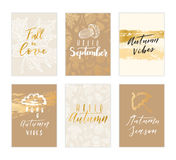 Autumn card collection. Royalty Free Stock Photos