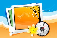 Autumn card with compass Royalty Free Stock Photography