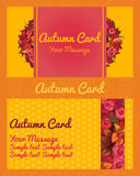 Autumn card, invitation, flyer, business card Royalty Free Stock Image