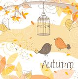 Autumn card, vector Stock Photo