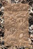Autumn Card verticale, benvenuto Fotografia Stock Libera da Diritti