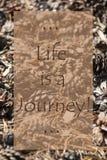 Autumn Card verticale, vita di citazione è un viaggio Immagini Stock
