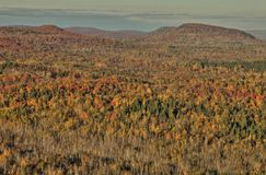 Autumn at Carlton Peak of the Sawtooth Mountains in Northern Minnesota on the North Shore of Lake Superior.  royalty free stock image