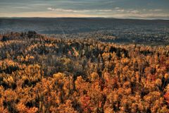 Autumn at Carlton Peak of the Sawtooth Mountains in Northern Minnesota on the North Shore of Lake Superior.  royalty free stock photography