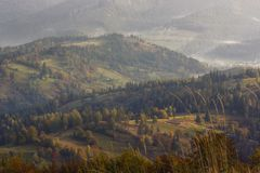 Autumn Carpathian-landschap Stock Fotografie