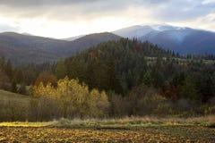 Autumn in Carpathian Mountains Stock Photo