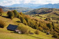 Autumn in the Carpathian Mountains Stock Images