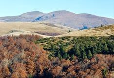 Autumn Carpathian sikt Arkivbilder