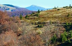 Autumn Carpathian sikt Royaltyfria Bilder