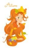 Autumn cartoon Stock Images