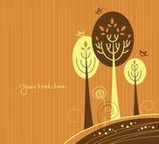 Autumn cartoon background Stock Images