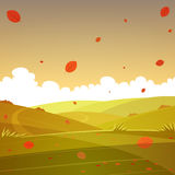 Autumn cartoon landscape Royalty Free Stock Image