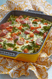 Autumn casserole with sweet potato and kale Stock Images
