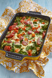 Autumn casserole with sweet potato and kale Royalty Free Stock Images