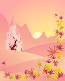 Autumn castle Stock Photography