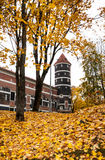 Autumn castle Panemune Stock Photography
