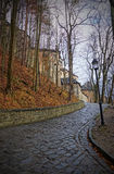 Autumn castle path Royalty Free Stock Images