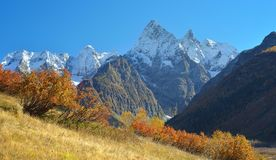 Autumn in Caucasus. This is colorful landscape in Caucasus mountains in fall Stock Photos