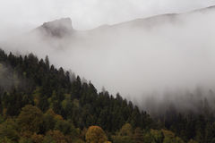 Autumn in the Caucasus. Sochi Region. The surroundings of Krasnaya Polyana Stock Photos