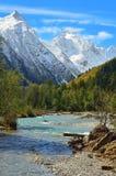 Autumn in Caucasus stock photo