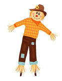 Autumn celebrations with scarecrow. Autumn celebrations with cute scarecrow. Isolated over white background. Vector illustration saved as EPS AI 8, no effects Royalty Free Stock Image