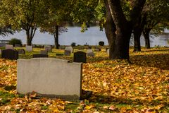 Autumn in the cemetary of Filipstad Sweden. Autumn in the cemetary of Filipstad in Sweden Royalty Free Stock Images