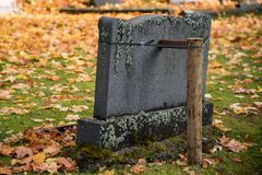 Autumn in the cemetary of Filipstad Sweden. Autumn in the cemetary of Filipstad in Sweden Stock Photography