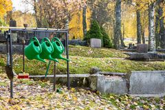 Autumn in the cemetary of Filipstad Sweden. Autumn in the cemetary of Filipstad in Sweden Royalty Free Stock Photo