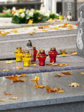 Autumn in a cemetery. Royalty Free Stock Photography