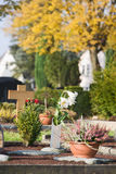 Autumn Cemetery Royalty Free Stock Photos