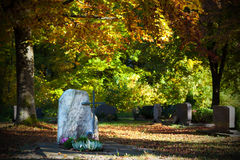 Autumn cemetery Royalty Free Stock Photo