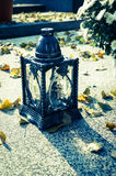 Autumn in cemetery Stock Photography
