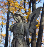 Autumn cemetery Stock Photos