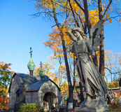 Autumn cemetery Royalty Free Stock Photography