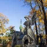 Autumn cemetery Stock Photo