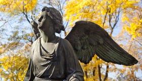 Autumn cemetery Stock Image