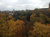 Autumn in the center of Luxembourg Stock Photo