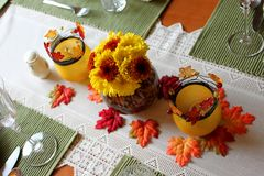 Autumn Centerpiece Stock Photography