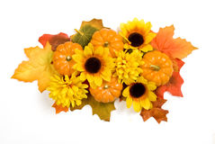 Autumn Centerpiece Isolated On White Fotografia Stock Libera da Diritti