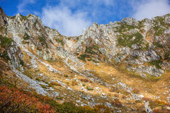 Autumn in the Central Alps, Japan. Royalty Free Stock Photo