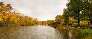 Autumn in Central Park, New York Stock Images