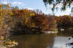Autumn on Central Park, New York. Photo shot from inside Central Park in New York Stock Photos