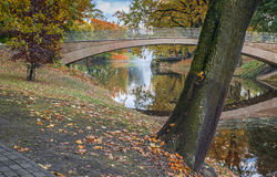 Autumn in the central park of Riga Royalty Free Stock Images