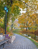 Autumn in the central park of Riga Stock Photo