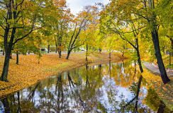 Autumn in the central park of Riga Stock Photography