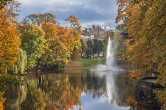 Autumn in the central park of Riga Stock Image