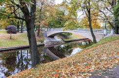Autumn in central public park of Riga Royalty Free Stock Photography