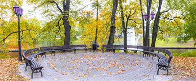 Autumn in central public park of Riga Stock Photography